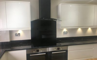 High gloss J handle style kitchen